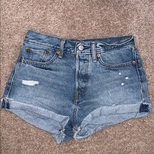 Levi's high waisted shorts!